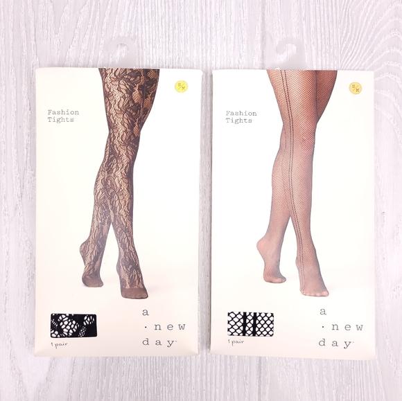 A New Day Fashion Tights Fishnet Pantyhose 2PK